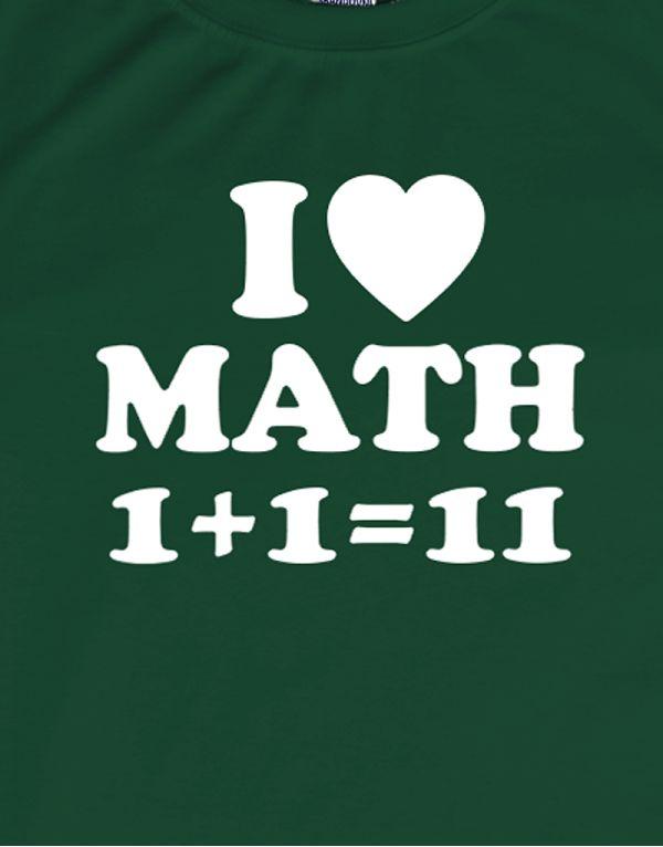 Tričko I Love Math