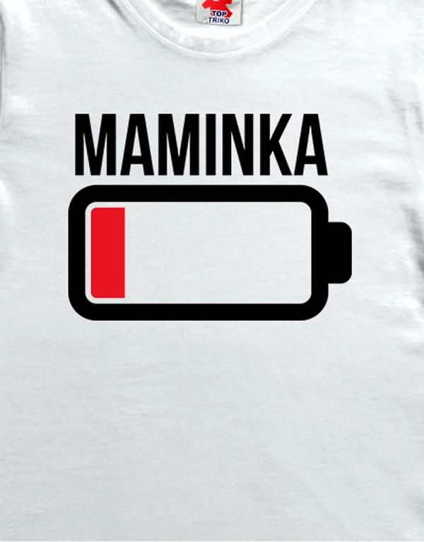 Tričko Baterie maminka
