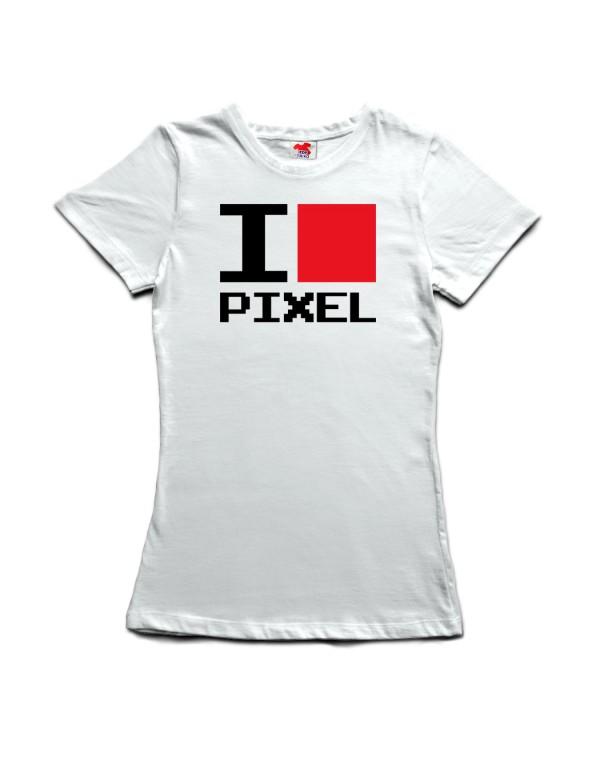 Tričko I love pixel