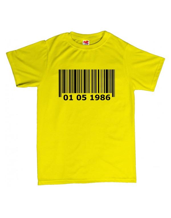 Tričko - Barcode - čárový kód - narozeniny