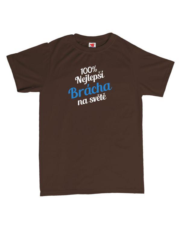 Tričko 100% nejlepší brácha na světě