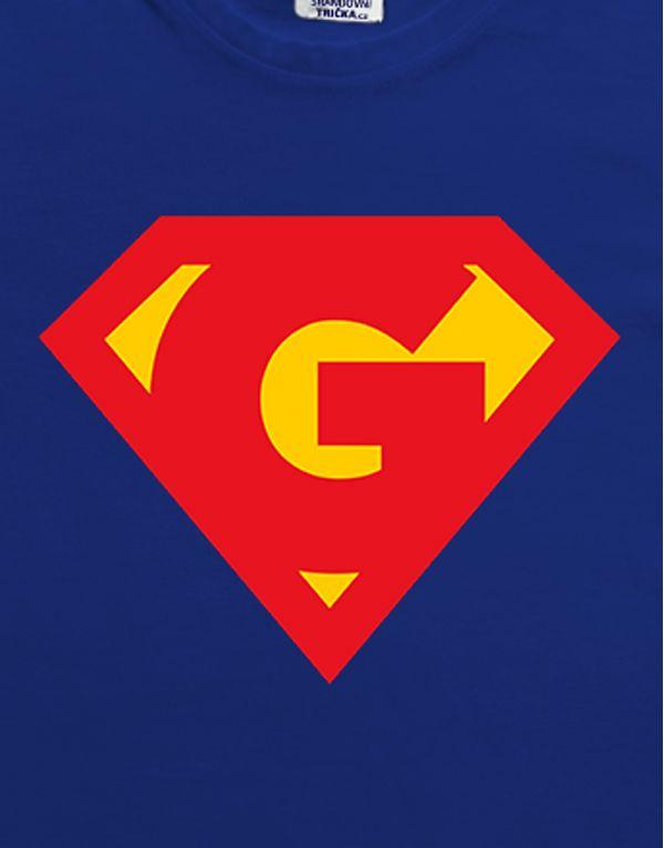 Tričko SUPERMAN s vlastním písmenem