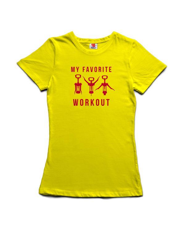 Tričko My favorite workout - víno