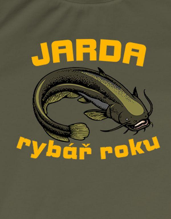 Tričko Rybář roku - sumec - rybářské tričko s vlastním jménem