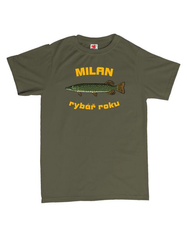 Tričko Rybář roku - štika - s vlastním jménem