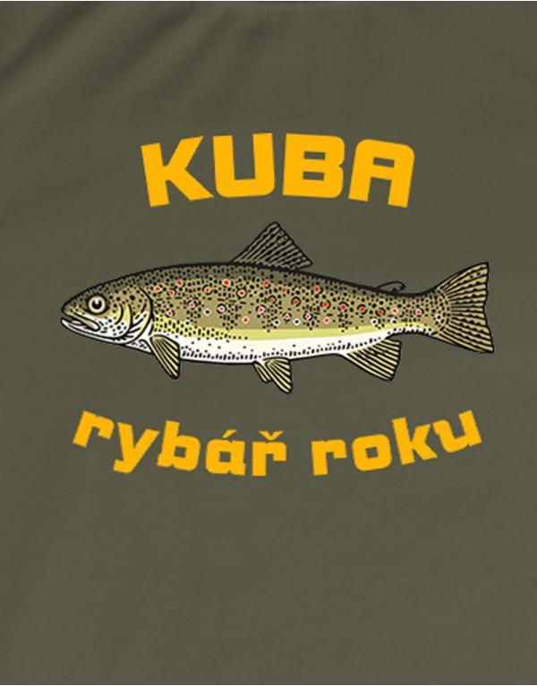 Tričko Rybář roku - pstruh - s vlastním jménem