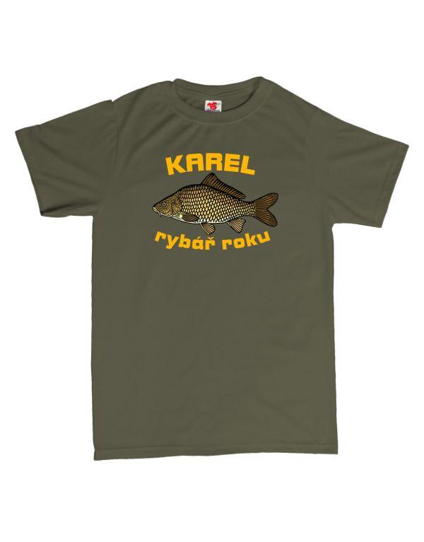 Tričko Rybář roku - kapr - rybářské tričko s vlastním jménem