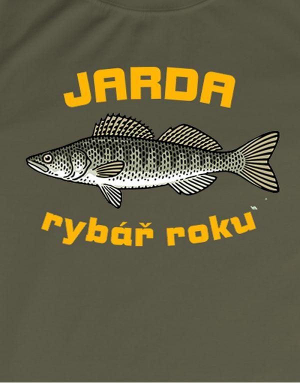 Tričko Rybář roku - candát - rybářské tričko s vlastním jménem